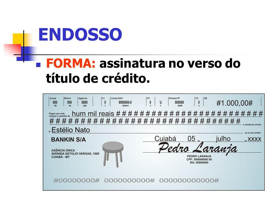 Endosso - Autonomia (Princípio da Abstração) Cessão civil - Código Civil, art.