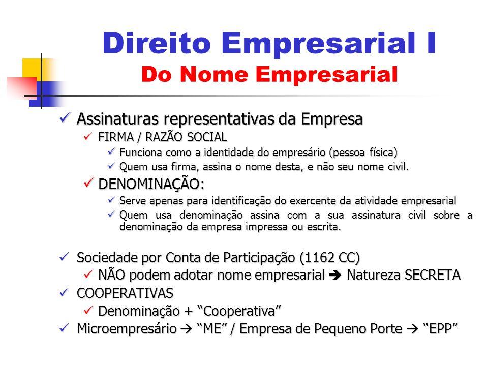 Assinaturas representativas da Empresa Assinaturas representativas da Empresa FIRMA / RAZÃO SOCIAL FIRMA / RAZÃO SOCIAL Funciona como a identidade do