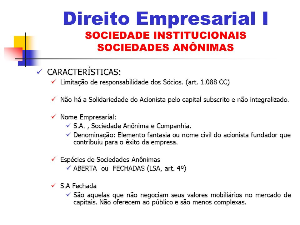DEBENTURES (Arts.52 a 74 LSA) DEBENTURES (Arts.