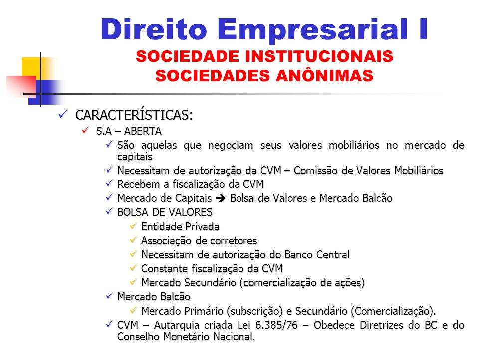 BONUS DE SUBSCRIÇÃO (Arts.75 a 79 LSA) BONUS DE SUBSCRIÇÃO (Arts.