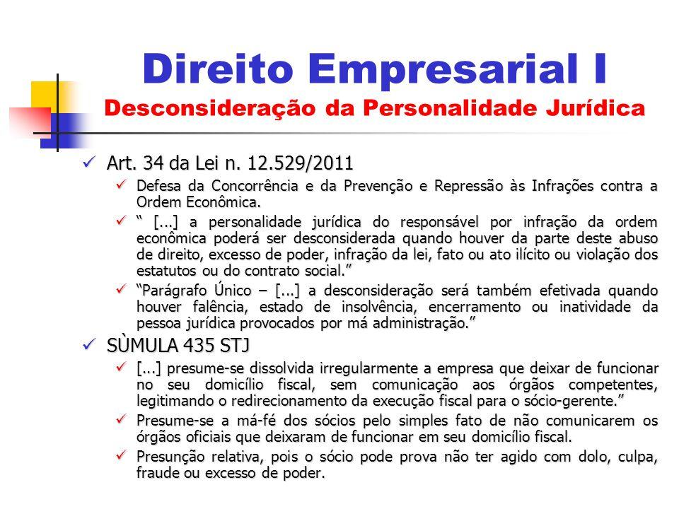 Art. 34 da Lei n. 12.529/2011 Art. 34 da Lei n. 12.529/2011 Defesa da Concorrência e da Prevenção e Repressão às Infrações contra a Ordem Econômica. D