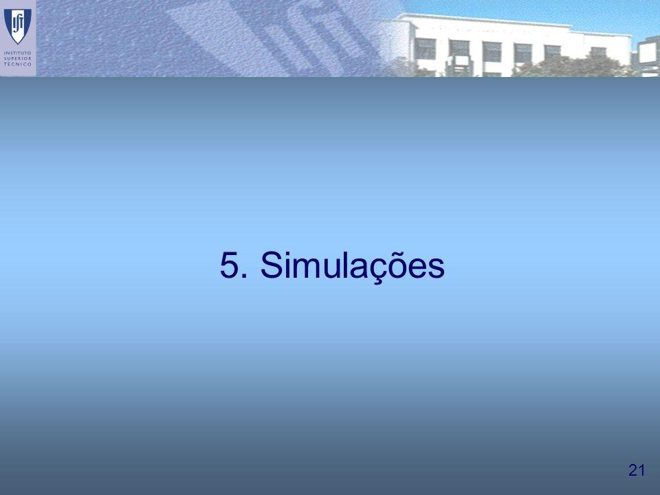 21 5. Simulações