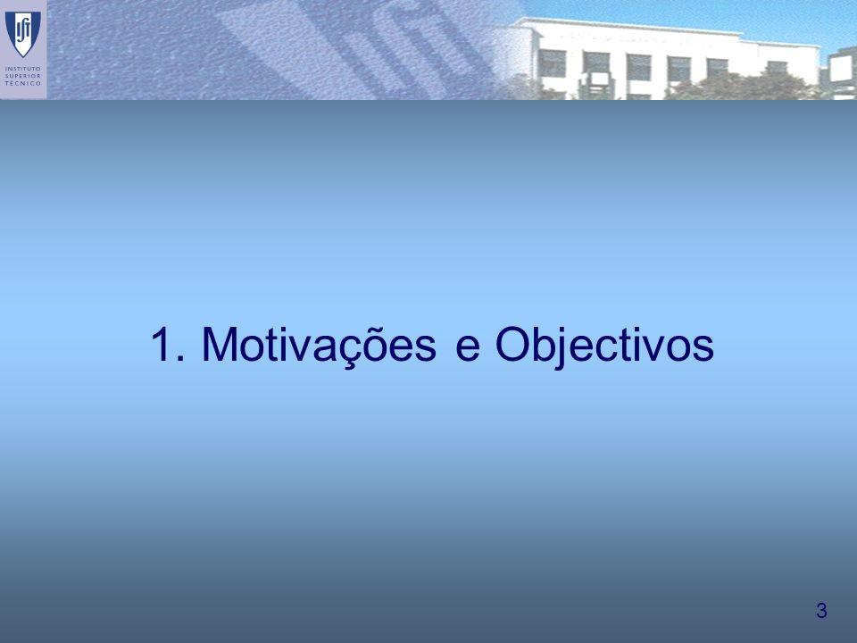 3 1. Motivações e Objectivos