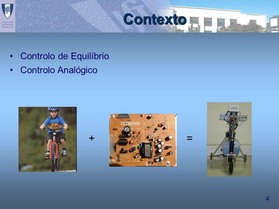 4 Contexto Controlo de Equilíbrio Controlo Analógico +=