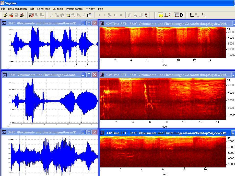 Softwares que apresentam o espectro da onda através de FFT Exemplos: -Sigview -WavePad FFT Sound Analyzer -Analyzer 2000