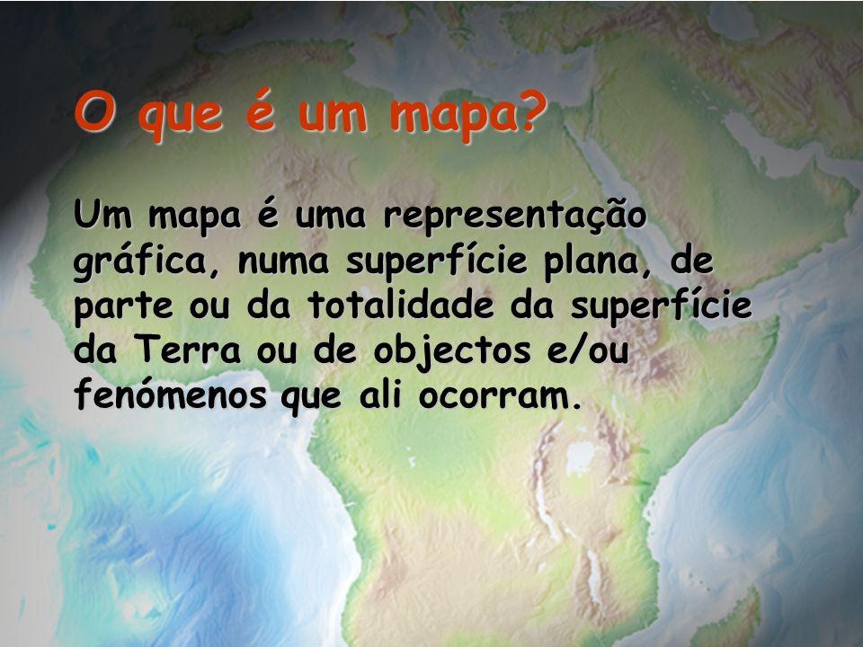 Um mapa é uma representação gráfica, numa superfície plana, de parte ou da totalidade da superfície da Terra ou de objectos e/ou fenómenos que ali oco