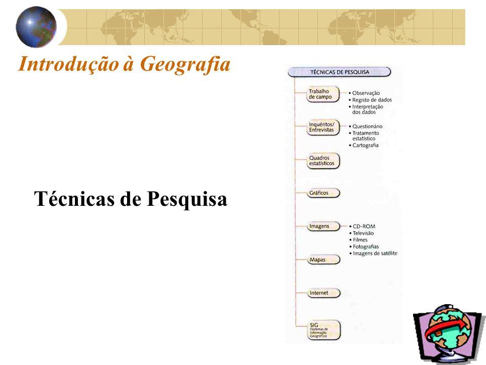 Introdução à Geografia Técnicas de Pesquisa