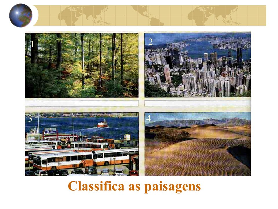 Classifica as paisagens 1 2 34