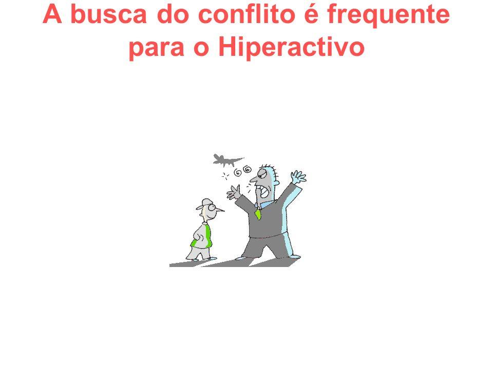 A busca do conflito é frequente para o Hiperactivo