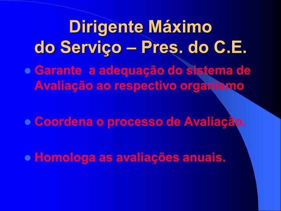Dirigente Máximo do Serviço – Pres. do C.E.