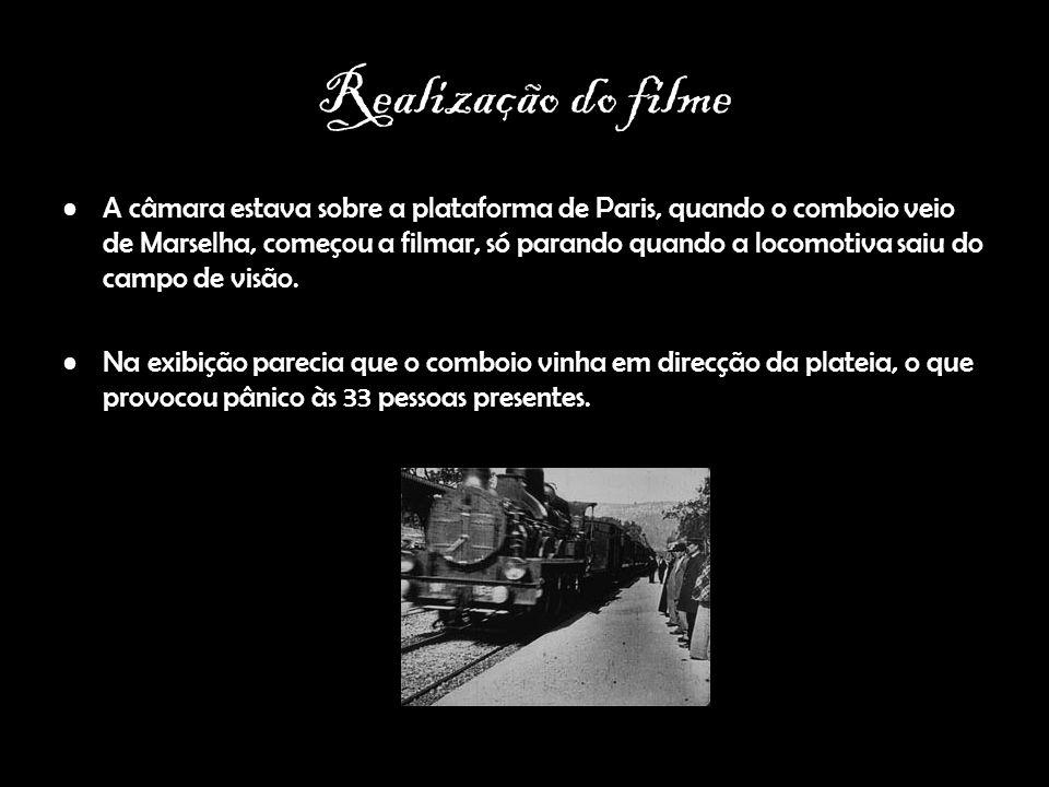 Realização do filme A câmara estava sobre a plataforma de Paris, quando o comboio veio de Marselha, começou a filmar, só parando quando a locomotiva s