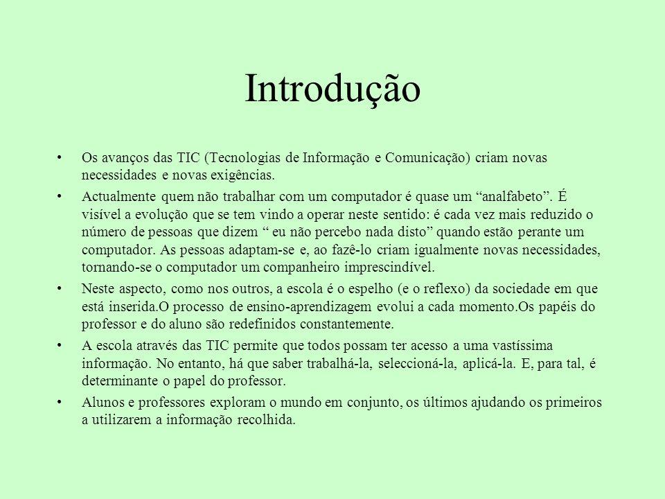 Introdução Os avanços das TIC (Tecnologias de Informação e Comunicação) criam novas necessidades e novas exigências.