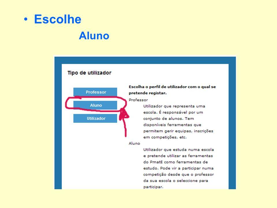 Escolhe –O Distrito –O Tipo de Escola (Secundária c/ 3º ciclo) –Listar Escolas