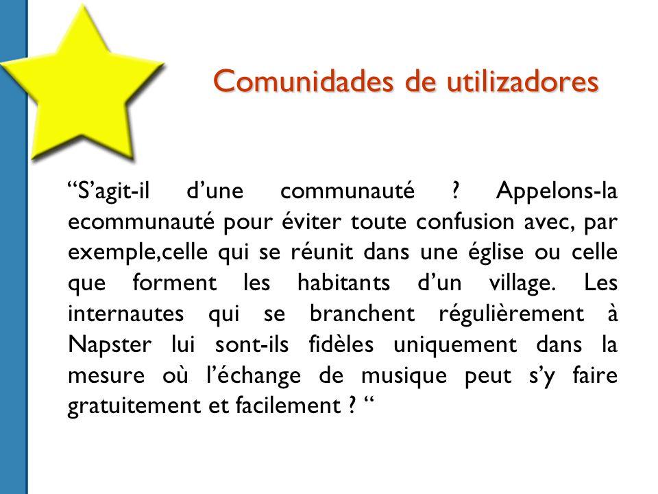 Comunidades de utilizadores Sagit-il dune communauté .