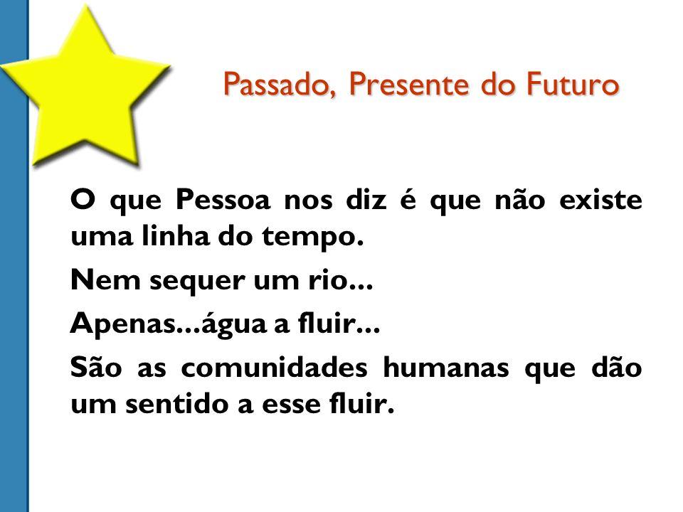 Passado, Presente do Futuro O que Pessoa nos diz é que não existe uma linha do tempo.