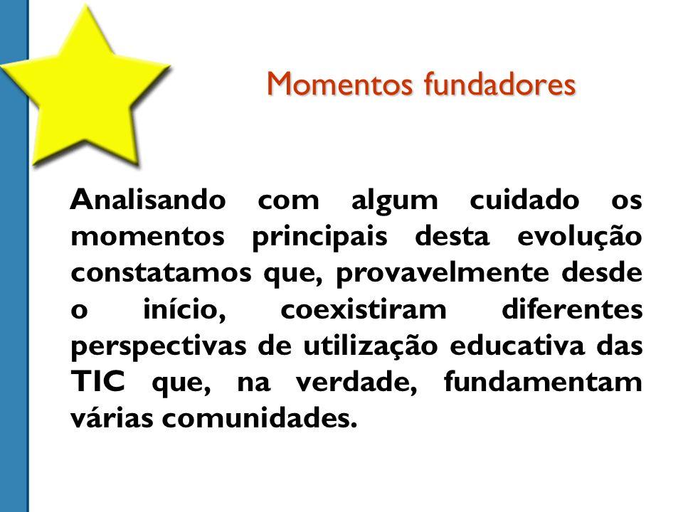 Memórias partilhadas Explosão da Internet Projecto Minerva Programa Nónio Reforma Curricular TIC obrigatória ITI Pré- história 19851994198919962004 Internet na Escola FUTURO ???