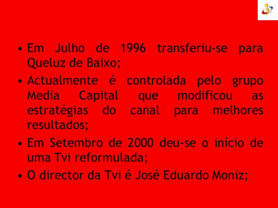 Em Julho de 1996 transferiu-se para Queluz de Baixo; Actualmente é controlada pelo grupo Media Capital que modificou as estratégias do canal para melh