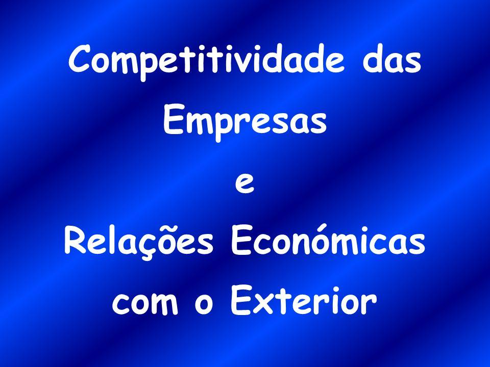 Competitividade das Empresas e Relações Económicas com o Exterior