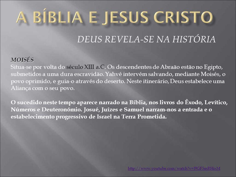DEUS REVELA-SE NA HISTÓRIA MOISÉS Situa-se por volta do século XIII a.C.