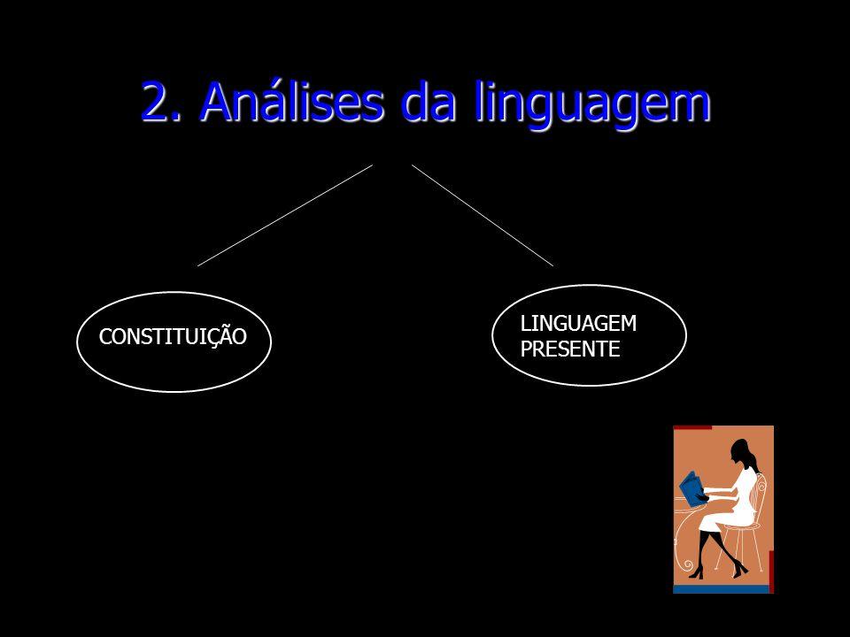 2. Análises da linguagem CONSTITUIÇÃO LINGUAGEM PRESENTE
