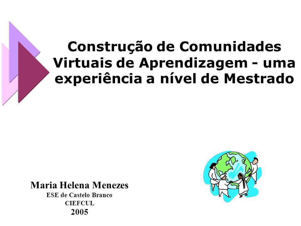Maria Helena Menezes ESE de Castelo Branco Centro de Investigação em Educação- FCUL helena.menezes@mail.ese.ipcb.pt OBRIGADA!