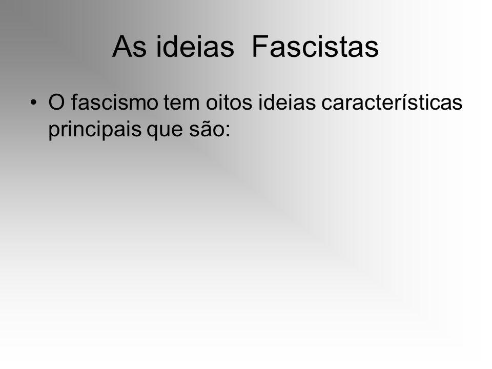 O Partido Fascista Em 1919, fundou os Fasci Italiani di Combatimento, organização que originaria, mais tarde, o Partido Fascista.