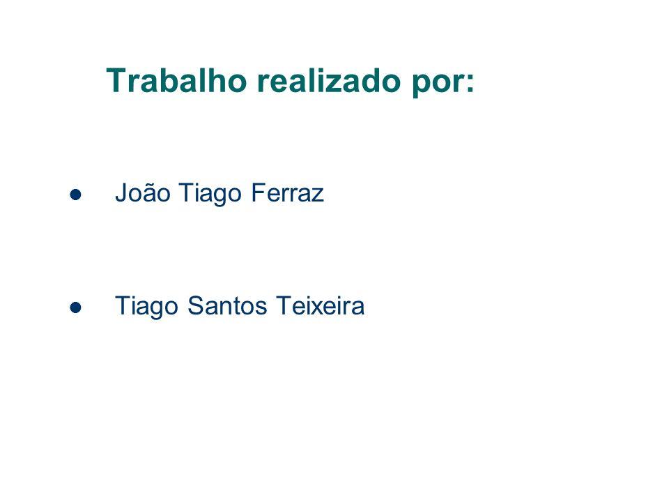 Trabalho realizado por: João Tiago Ferraz Tiago Santos Teixeira