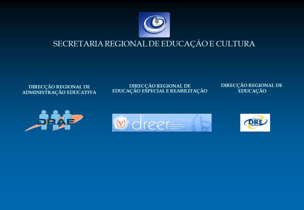 DIRECÇÃO REGIONAL DE EDUCAÇÃO ESPECIAL E REABILITAÇÃO SECRETARIA REGIONAL DE EDUCAÇÃO E CULTURA DIRECÇÃO REGIONAL DE ADMINISTRAÇÃO EDUCATIVA DIRECÇÃO