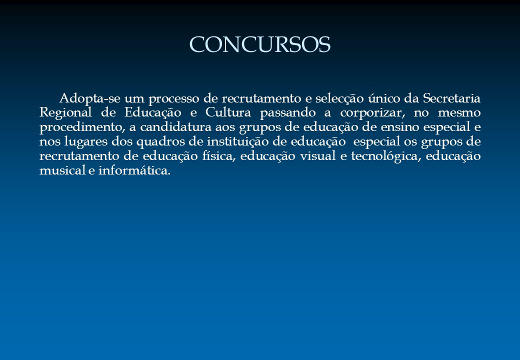 TRÂMITES DE INSCRIÇÃO E DE CANDIDATURA CANDIDATURA O candidato é o único responsável pelos seus dados da candidatura.