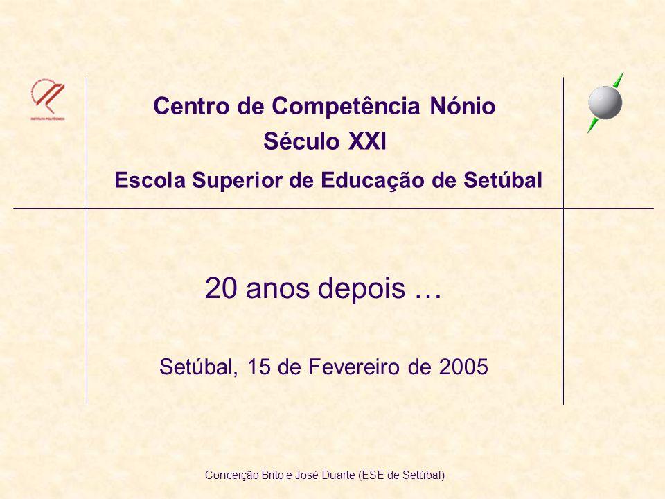 Centro de Competência Nónio Século XXI Escola Superior de Educação de Setúbal 20 anos depois … Setúbal, 15 de Fevereiro de 2005 Conceição Brito e José