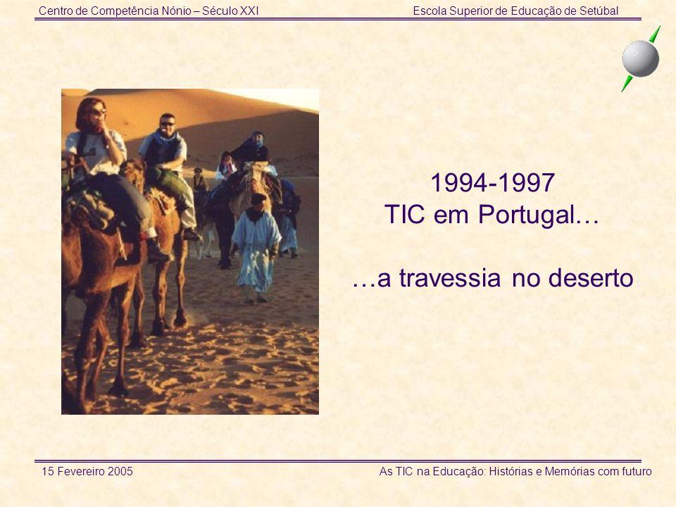Centro de Competência Nónio – Século XXIEscola Superior de Educação de Setúbal 15 Fevereiro 2005 As TIC na Educação: Histórias e Memórias com futuro 1