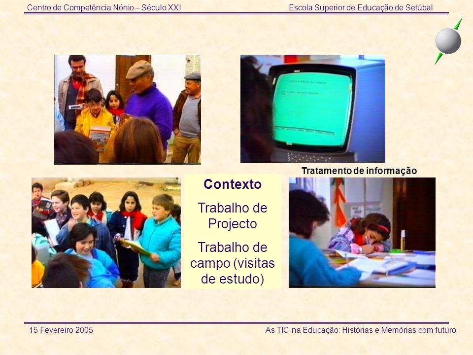 Centro de Competência Nónio – Século XXIEscola Superior de Educação de Setúbal 15 Fevereiro 2005 As TIC na Educação: Histórias e Memórias com futuro Utilizações em diferentes contextos Mais de metade dos materiais produzidos foram usados com alunos