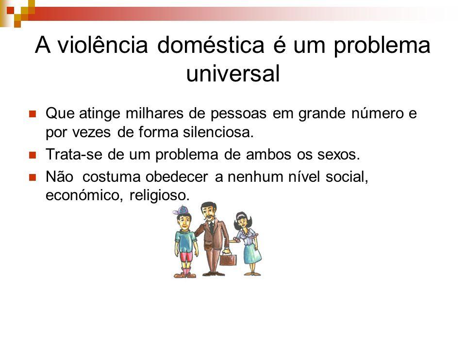 A violência doméstica é um problema universal Que atinge milhares de pessoas em grande número e por vezes de forma silenciosa. Trata-se de um problema