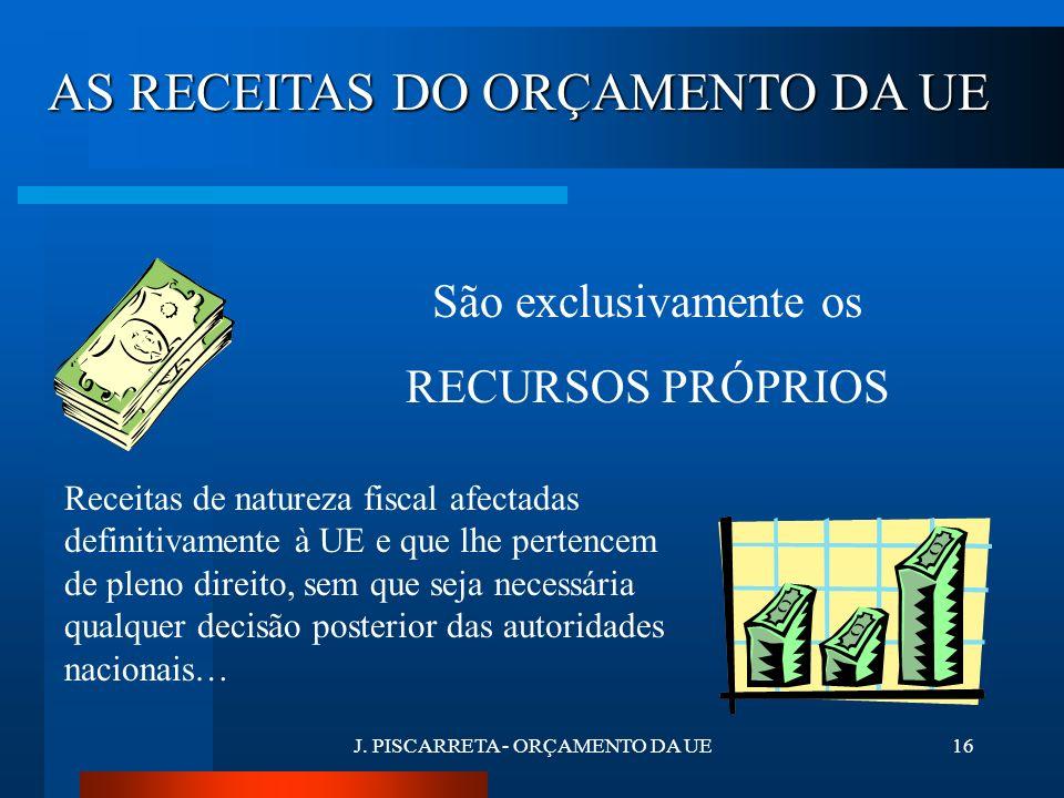 J. PISCARRETA - ORÇAMENTO DA UE15 RECEITAS