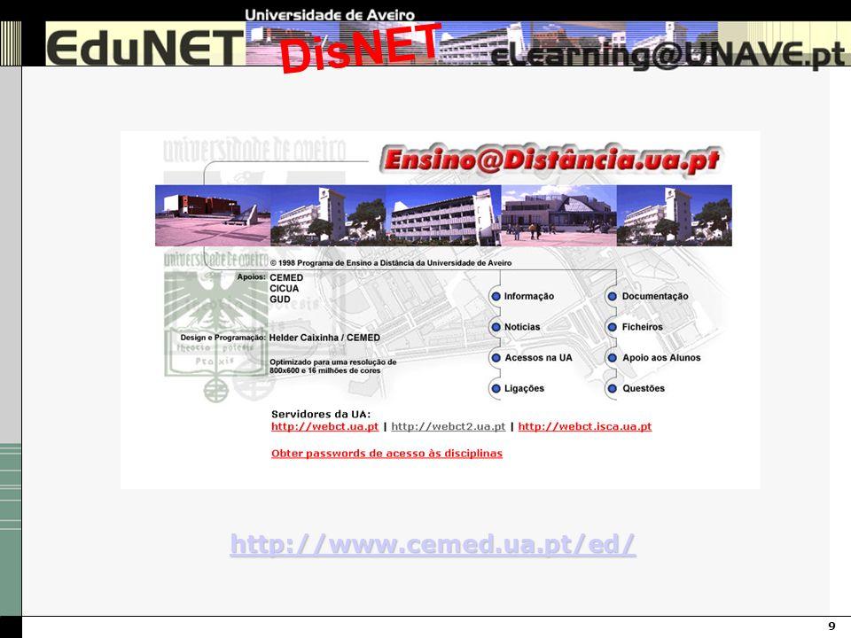 9 DisNET http://www.cemed.ua.pt/ed/