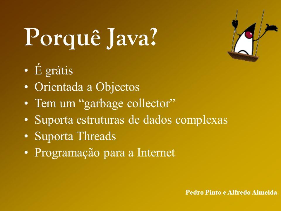 Pedro Pinto e Alfredo Almeida Porquê Java.