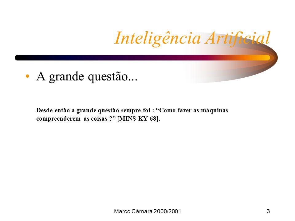 Marco Câmara 2000/200114 Inteligência Artificial Redes Semânticas Semântica é o estudo do significado de conceitos individuais utilizados na linguagem.