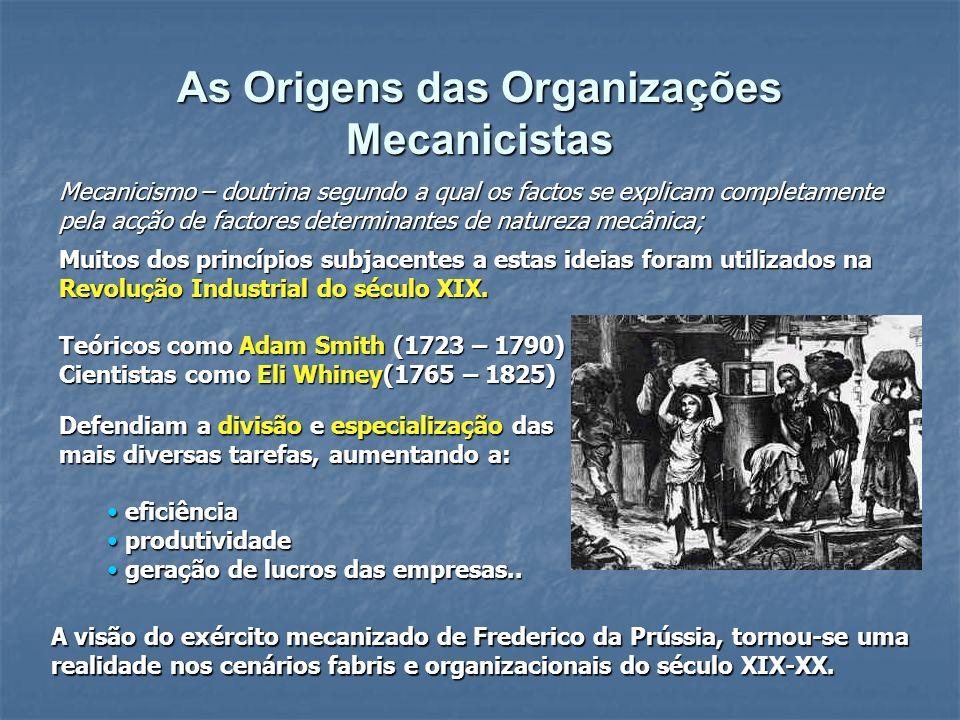 Muitos dos princípios subjacentes a estas ideias foram utilizados na Revolução Industrial do século XIX. Teóricos como Adam Smith (1723 – 1790) Cienti