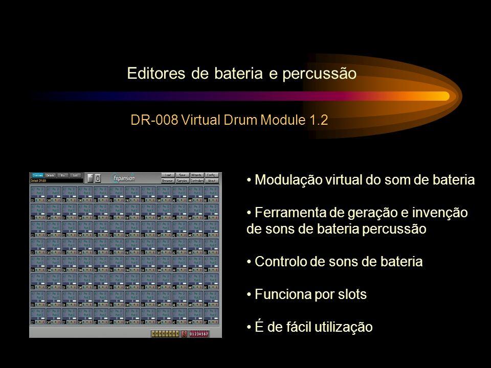 Editores de bateria e percussão DR-008 Virtual Drum Module 1.2 Modulação virtual do som de bateria Ferramenta de geração e invenção de sons de bateria