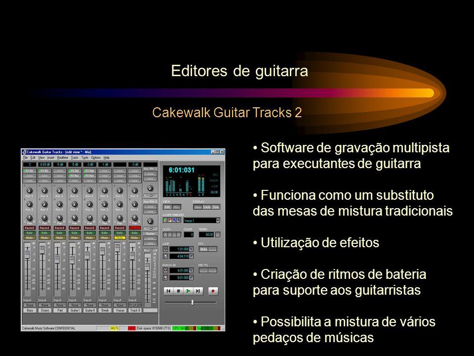 Editores de guitarra Cakewalk Guitar Tracks 2 Software de gravação multipista para executantes de guitarra Funciona como um substituto das mesas de mi