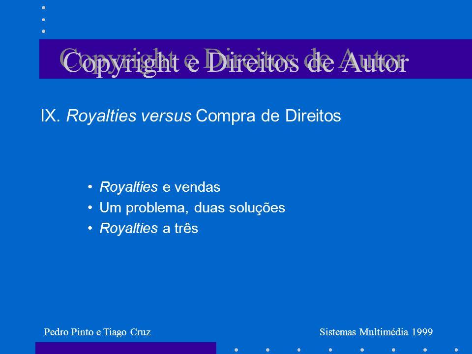 Copyright e Direitos de Autor IX.