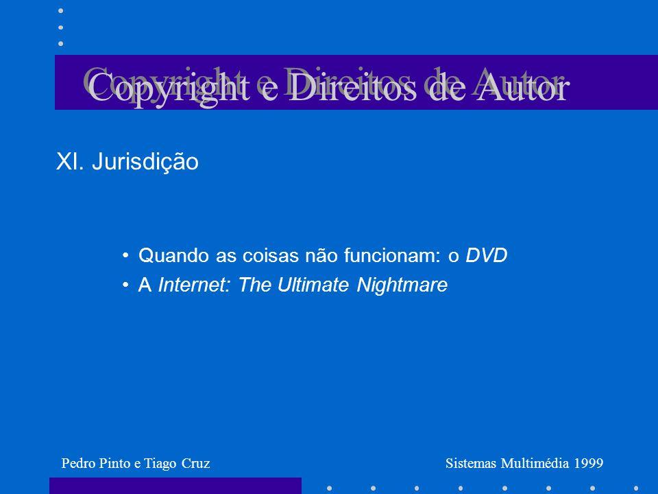 Copyright e Direitos de Autor XI.
