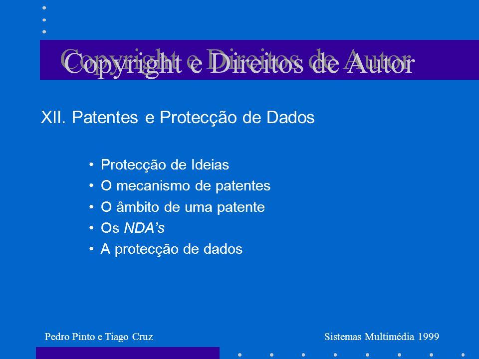 Copyright e Direitos de Autor XII.