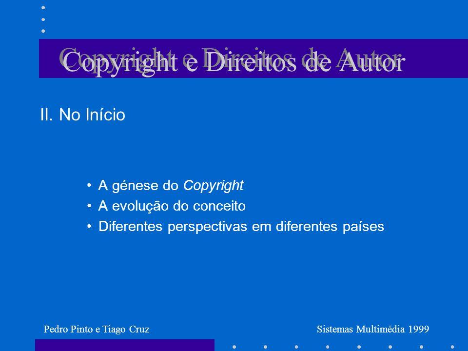Copyright e Direitos de Autor II.