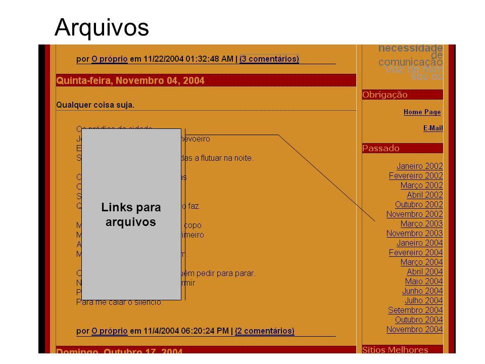 Links para arquivos Arquivos