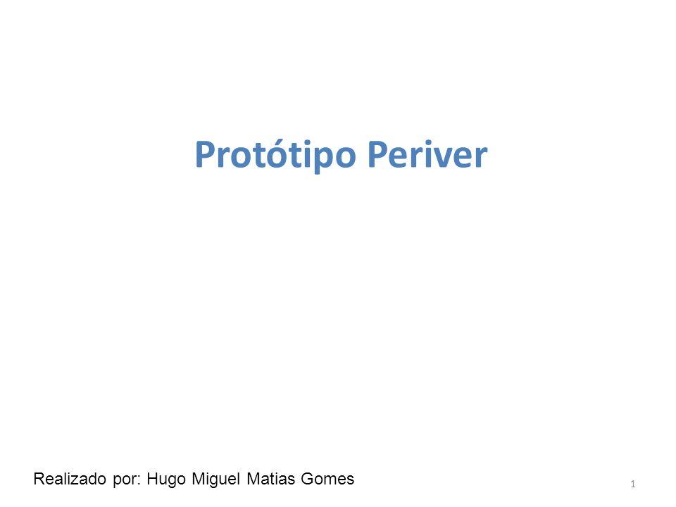 Protótipo Periver 1 Realizado por: Hugo Miguel Matias Gomes
