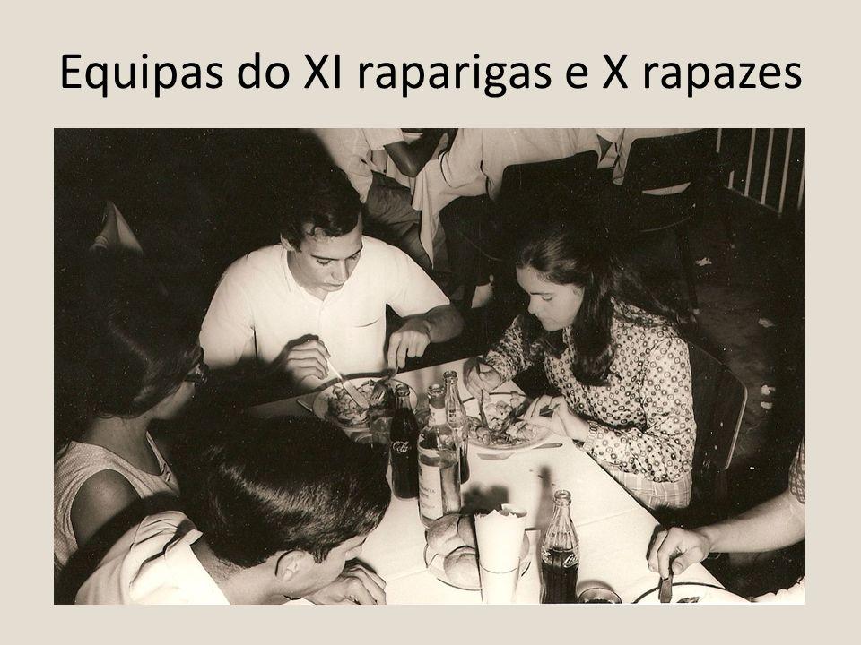 Equipas do XI raparigas e X rapazes