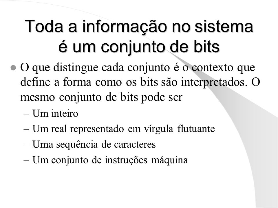 largest.as Programa para escrever o maior de dois números lidos: in ax ; readln( r ) copy r, ax in ax ; readln( s ) copy s, ax copy ax, s cmp ax, r ; if( s < r ) jnb there ; sim, saltar para there copy ax, r out ax ; writeln( r ); jmp quit there copy ax, s out ax ; writeln( s ); quit halt r 0 s 0 Exemplo de entradas/saídas: 44