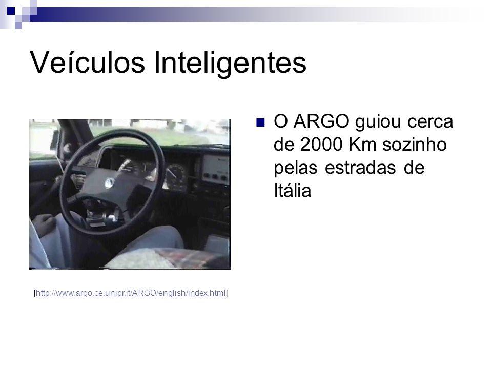 Veículos Inteligentes O ARGO guiou cerca de 2000 Km sozinho pelas estradas de Itália [http://www.argo.ce.unipr.it/ARGO/english/index.html]http://www.a