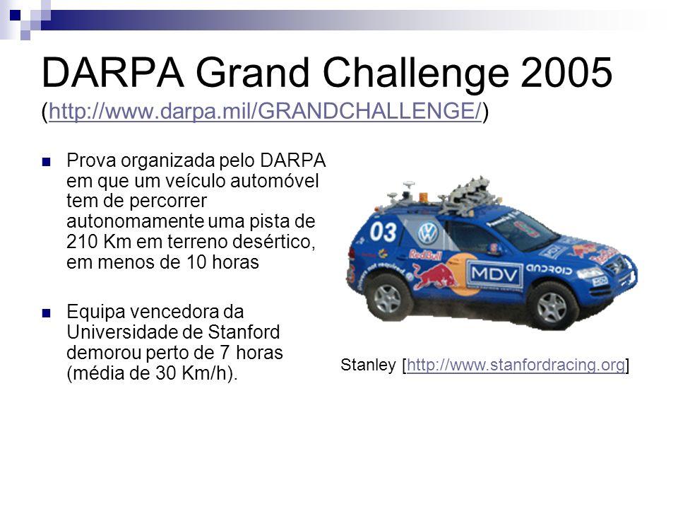 DARPA Grand Challenge 2005 (http://www.darpa.mil/GRANDCHALLENGE/)http://www.darpa.mil/GRANDCHALLENGE/ Prova organizada pelo DARPA em que um veículo au